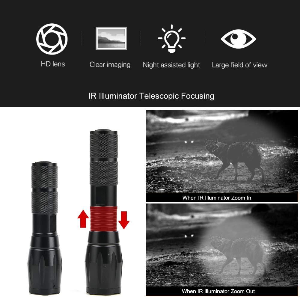 Military IR Infrared Zoom Flashlight DIY Night Vision Hunting Torch Lamp Mount