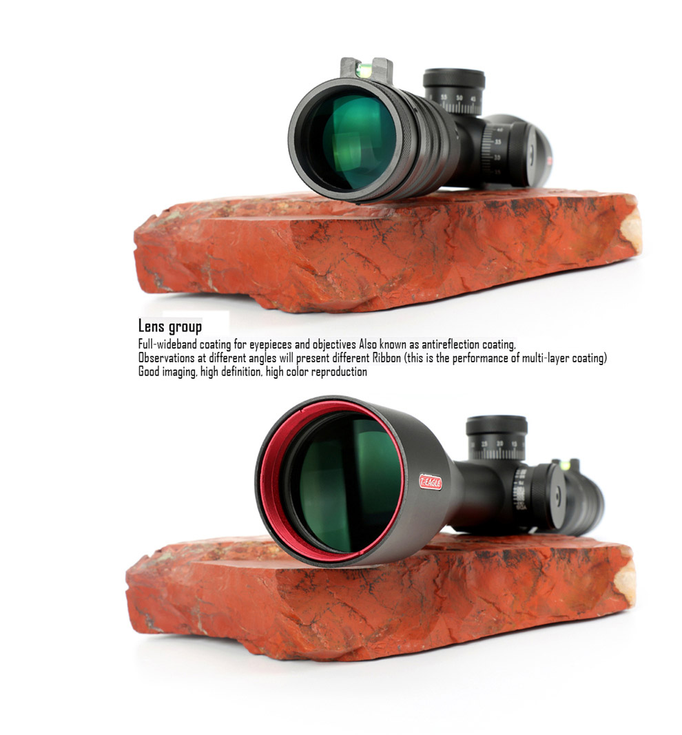 T-EAGLE ER 6-24X50 SFFLE Hunting Riflescope Tactical Optical Sight Full  Size Mil-Dot RGB Wire Reticle hunting optics rifle scope